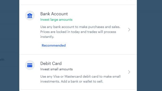 Include a payment account to Coinbase
