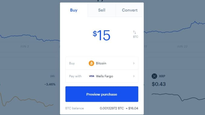 Tap 'Trade' on the top-right of the Coinbase site or app.